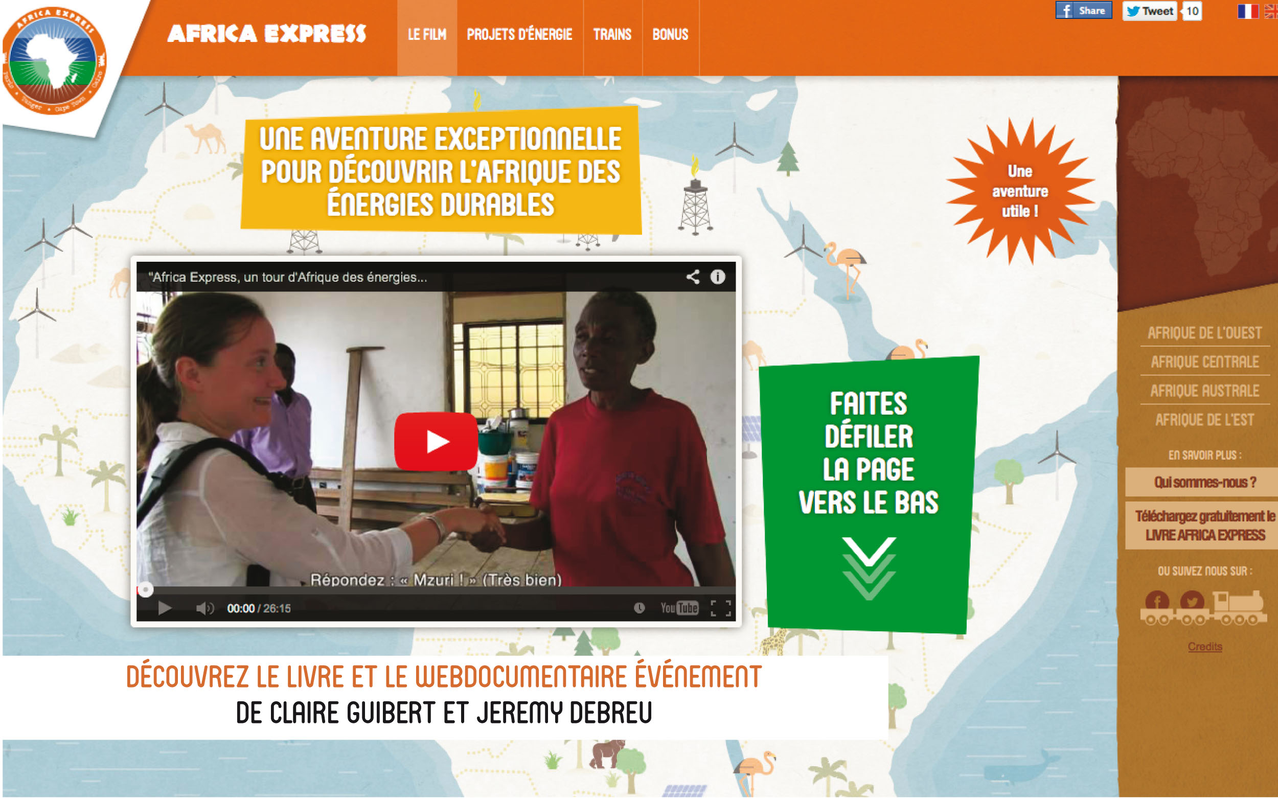 Africa Express - MkF éditions - Afrique - webdocumentaire